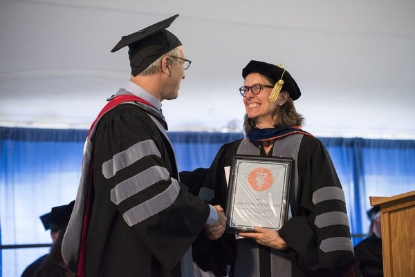 05/22/2016 - Grafton, MA - The 34th commencement ceremony for the Cummings School of Veterinary Medicine on May 22nd, 2016. (Ian MacLellan for Tufts University)
