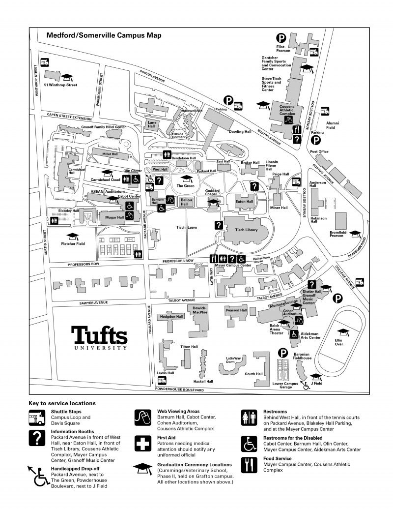 Tufts Medford Campus Map.Medford Somerville Campus Map Tufts University Dinocro Info